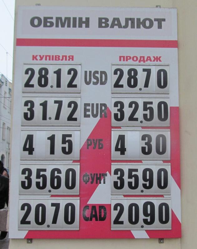 Готівковий курс валют 27 листопада: гривня продовжує падіння