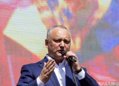 Це принципова позиція: Додон заявив, що ніякого НАТО в Молдові не буде