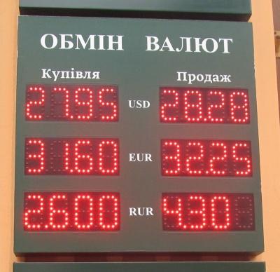 Курс валют у Чернівцях на 2 листопада