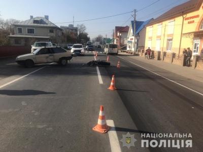У поліції прокоментували ДТП з мотоциклістом у Лужанах - фото