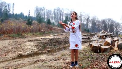 «Не губіть природу!»: на Буковині школярі закликали не вирубувати ліси - відео