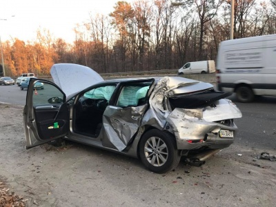 Авто нардепа Лещенка потрапило у ДТП з вантажівкою: з'явився запис із відеореєстратора