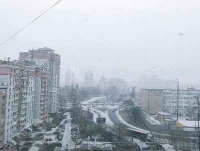 У Києві випав перший сніг - фото