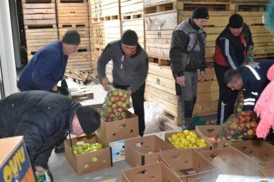 Підприємці Хотинського району відправили солдатам на фронт 20 тон яблук - фото