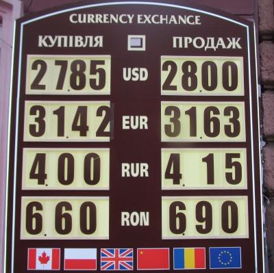 Курс валют у Чернівцях на 15 листопада
