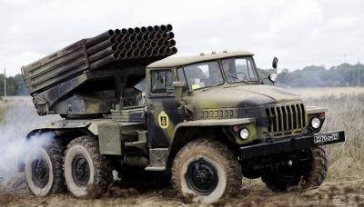 """Місія ОБСЄ зафіксувала на Донбасі невідведені бойовиками """"Гради"""""""