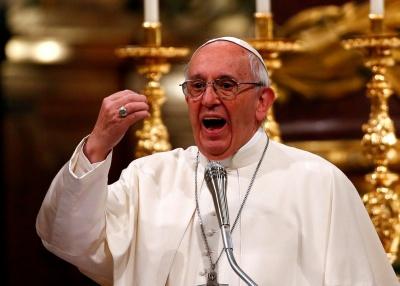 Папа Франциск розділив трапезу із тисячами бідняків