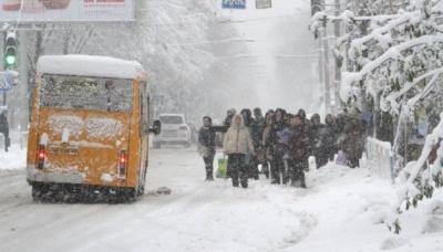 Синоптики прогнозують сильні снігопади вже наступного тижня
