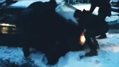 У Чернівцях легковик провалився в яму, яку засипали щебенем - відео