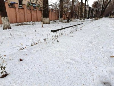 ЗМІ: У Кривому Розі випав чорний сніг