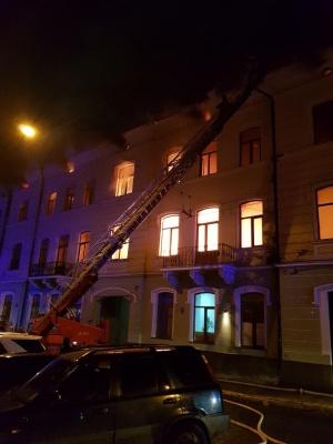Пожежа в центрі Чернівців: попередньо - жертв немає