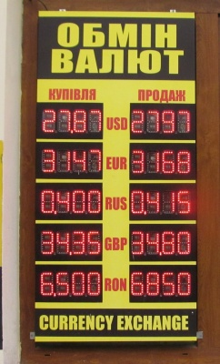 Курс валют у Чернівцях на 12 грудня