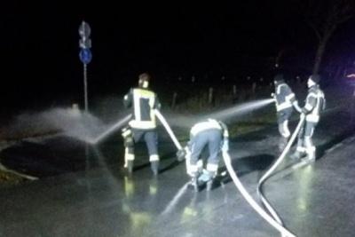 У Німеччині на дорогу вилилось 15 тисяч літрів молока