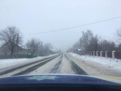 Снігова негода: поліція попередила про ожеледицю на автотрасах Буковини