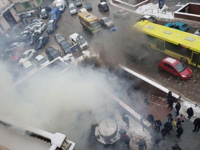 У Львові під редакцією сайту пікетувальники запалили димові шашки