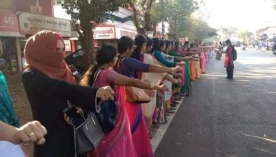 В Індії жінки утворили живий ланцюг завдовжки 620 кілометрів