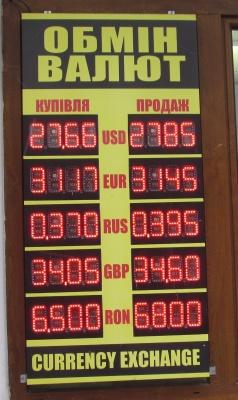 Курс валют у Чернівцях на 4 січня