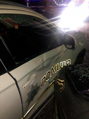 У поліції розповіли, як п'яний буковинець протаранив службове авто поліції