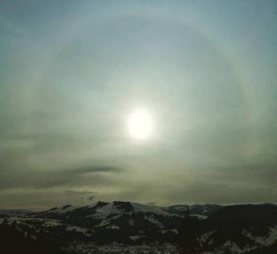 Під час підписання Томосу у Карпатах помітили унікальне небесне явище