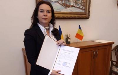 Новий генеральний консул Румунії в Чернівцях отримала офіційний дозвіл на роботу