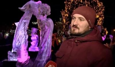 Чернівчанин переміг на конкурсі льодових скульптур у Львові