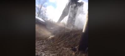 З'явилося відео з масштабної аварії на водогоні в Шубранці