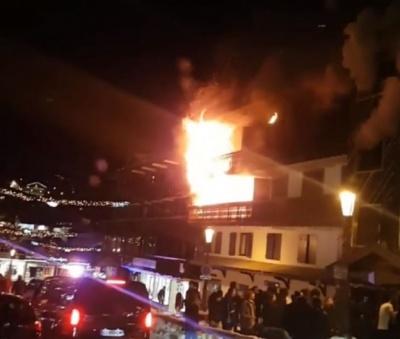 На гірськолижному курорті Куршевель сталася пожежа. Загинули двоє людей