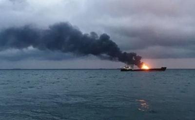 Біля Керченської протоки горять два танкера. Загинули щонайменше 10 осіб