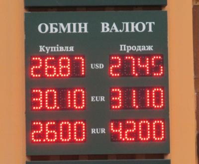 Курс валют у Чернівцях на 11 лютого