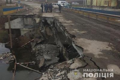 На Тернопільщині обвалився міст через річку Серет