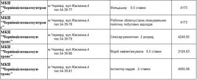 Обіцяють до 15 тисяч: кого потребують на роботу підприємства сфери ЖКГ Чернівців