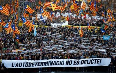 У Барселоні близько 200 тисяч людей вийшли на підтримку незалежності Каталонії