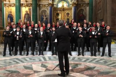 У Санкт-Петербурзі хор співав про ядерне бомбардування США в Ісаакієвському соборі