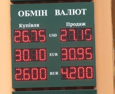Курс валют у Чернівцях на 28 лютого