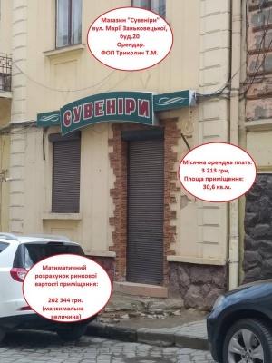 Людина з оточення Чинуша хоче за безцінь приватизувати магазин у центрі Чернівців