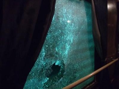 У вагонах потягу  «Івано-Франківськ-Миколаїв» побили вікна