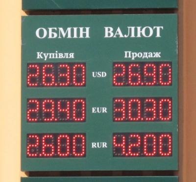 Курс валют у Чернівцях на 13 березня
