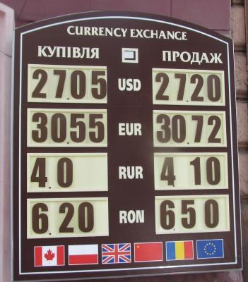 Курс валют у Чернівцях на 18 березня