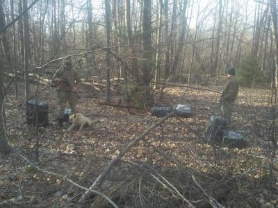 Стрілянина на кордоні: на Буковині контрабандисти втекли, покинувши ящики з цигарками