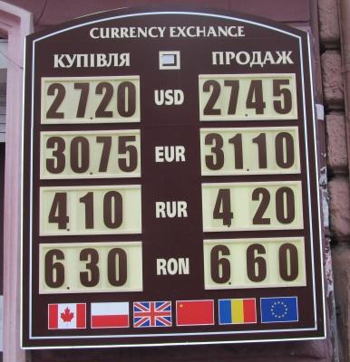 Курс валют у Чернівцях на 20 березня