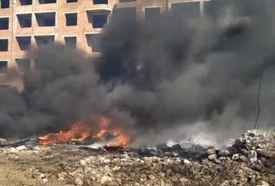На Буковині через спалювання трави ледь не вибухнула АЗС - відео
