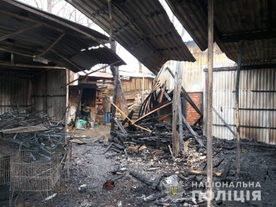 У Вижниці вночі горів ринок, знищено понад 10 кіосків – фото