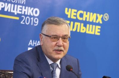 Гриценко заявив, що ніколи не проголосує за Порошенка