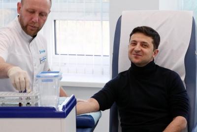 Зеленський оприлюднив результати аналізу крові