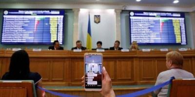 ЦВК оголошує результати першого туру виборів президента