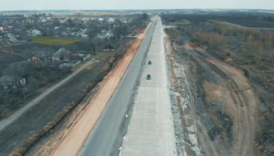 В Україні відкрили першу ділянку бетонної дороги