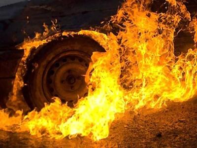 У Сторожинці загорівся рейсовий автобус