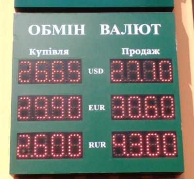 Курс валют у Чернівцях на 15 квітня