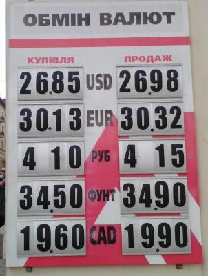 Курс валют у Чернівцях на 18 квітня