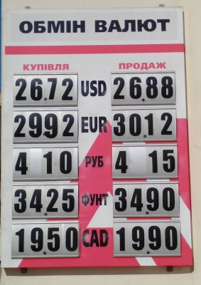 Курс валют у Чернівцях на 23 квітня